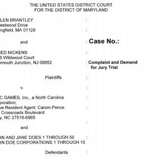 Epic Games Fortnite lawsuit
