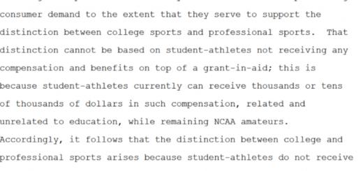 NCAA antitrust Judge Wilken