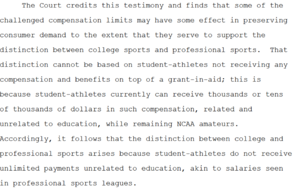 NCAA antitrust Judge Wilken