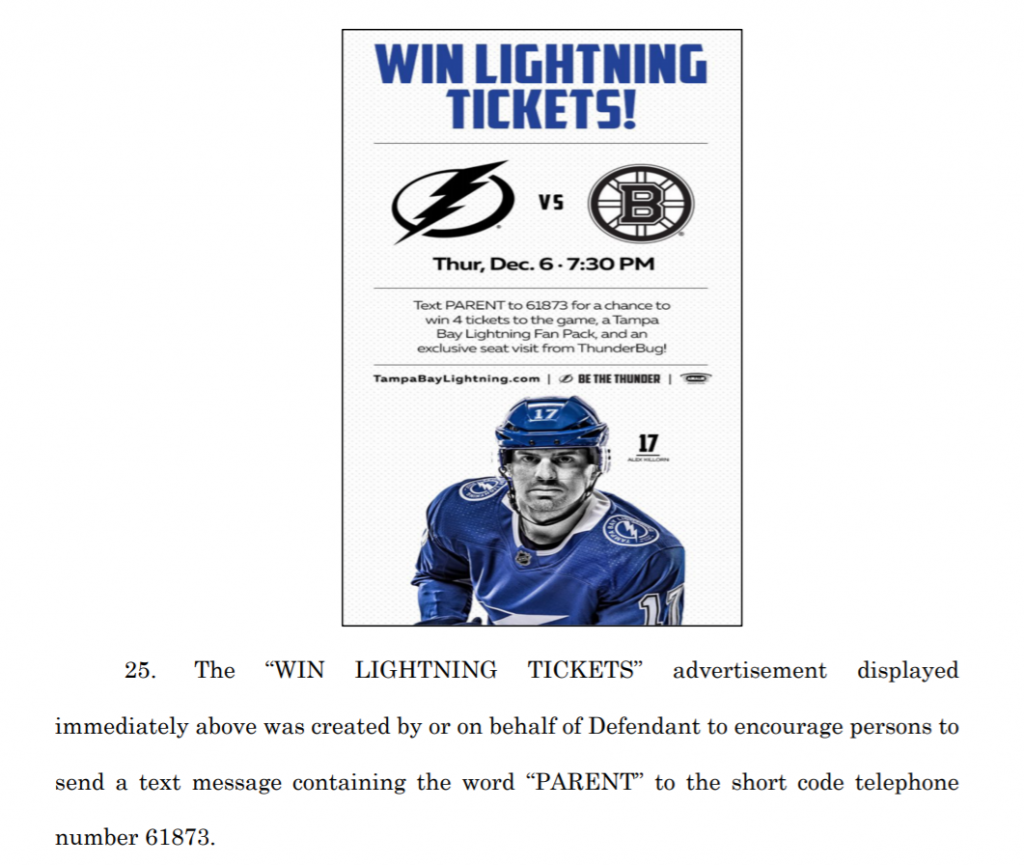 Tampa Bay Lightning lawsuit