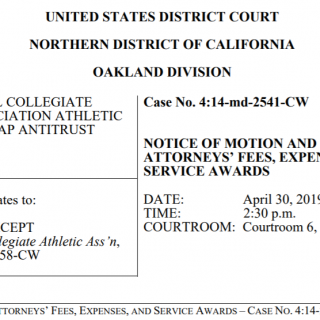 NCAA Alston Motion for Attorneys Fees